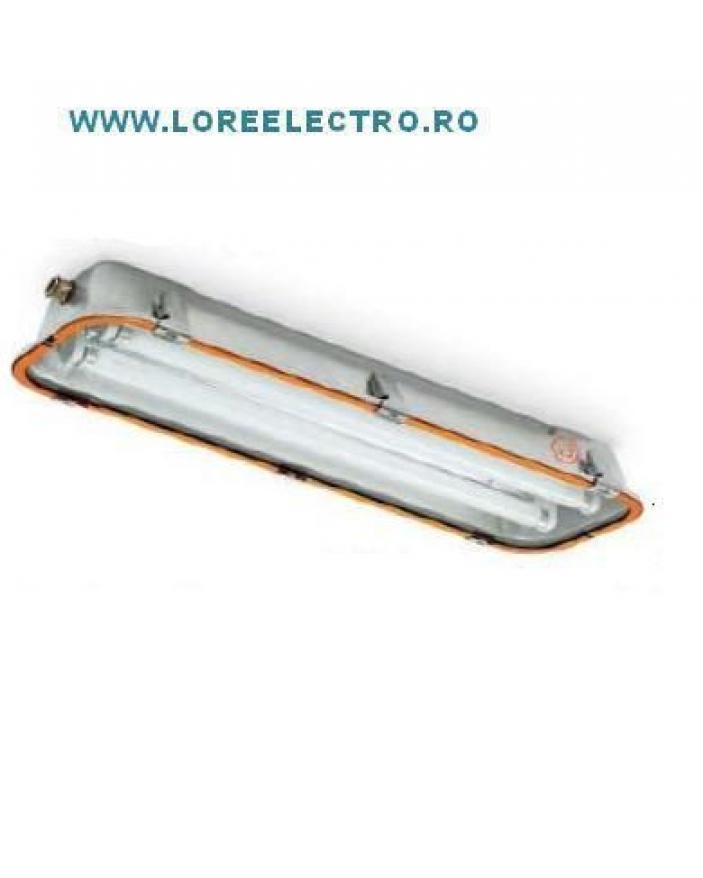 corp de iluminat Antiex 2x18W Italia zona 21, 22 prafuri, zona 2 gaze IP66